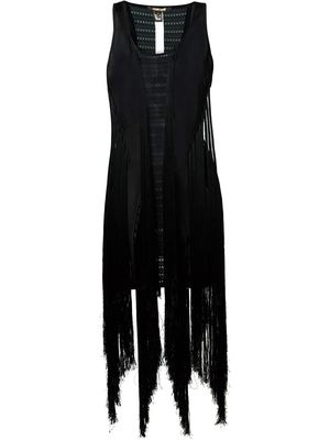 ROBERTO CAVALLI fringed fitted dress