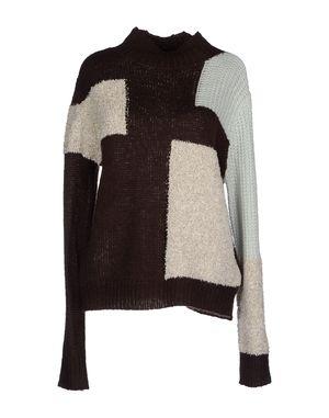 深棕色 VERO MODA 圆领针织衫