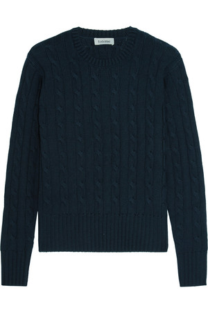 绞花针织羊毛真丝羊绒混纺毛衣