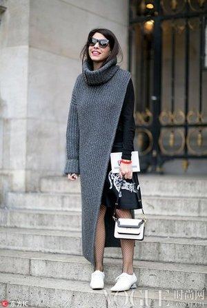 毛衣裙这样穿 用来包裹你的寒冬