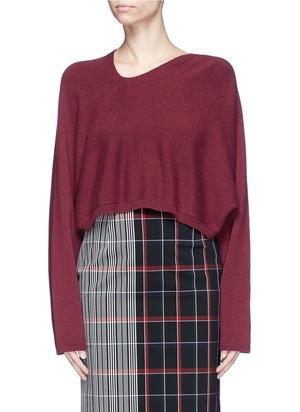短款羊绒针织衫