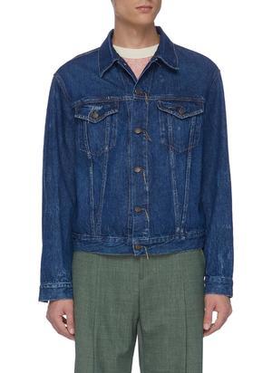 1998皱褶水洗纯棉牛仔夹克