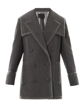 Layered lapel pea coat