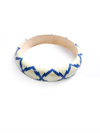 Zigzag wooden bangle