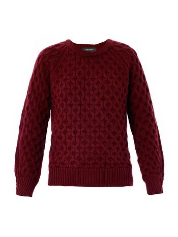 Noreen textured-knit sweater
