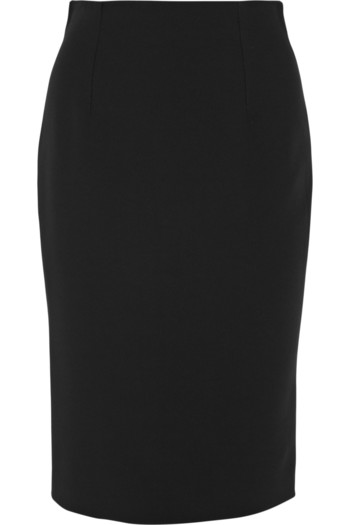 绉纱铅笔半身裙