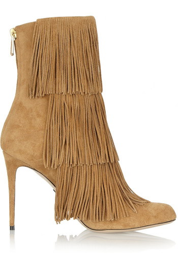 Taos 流苏绒面革及踝靴