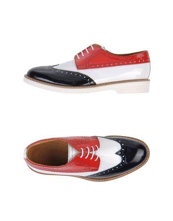 红色 EMPORIO ARMANI 系带鞋