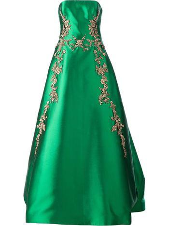REEM ACRA floral embellished evening gown