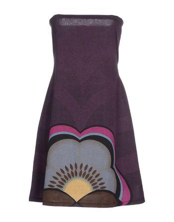紫色 POEMS 短款连衣裙