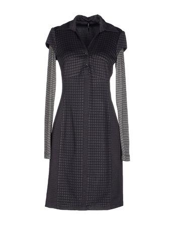 青灰色 PIANURASTUDIO 短款连衣裙