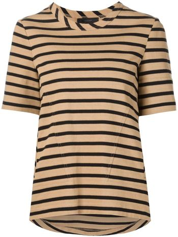 BELSTAFF striped half sleeve T-shirt