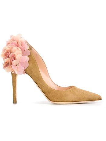 RUPERT SANDERSON floral applique pumps