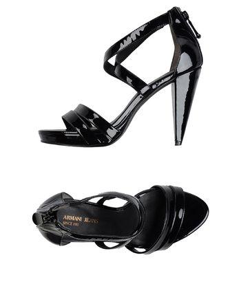 黑色 ARMANI JEANS 凉鞋