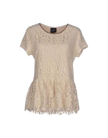 象牙白 TWIN-SET JEANS 女士衬衫