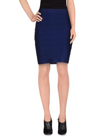 蓝色 POEMS 及膝半裙