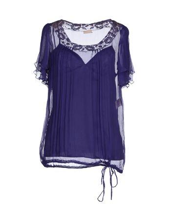 紫色 GALLIANO 女士衬衫