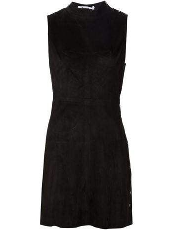 T BY ALEXANDER WANG fitted suede dress