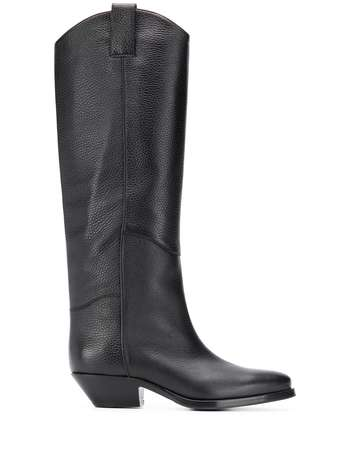 P.A.R.O.S.H. knee-high saddle boots - Black
