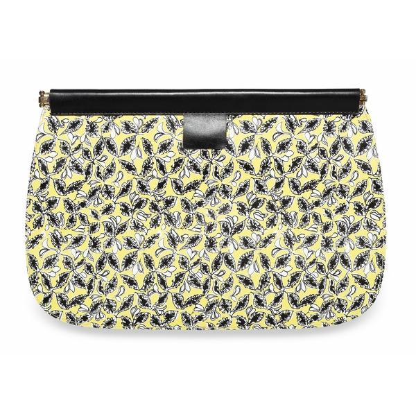 marni 黄色花纹手包