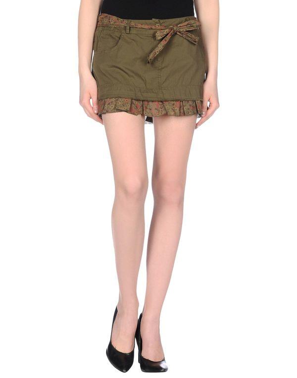 军绿色 D.A. DANIELE ALESSANDRINI 超短裙