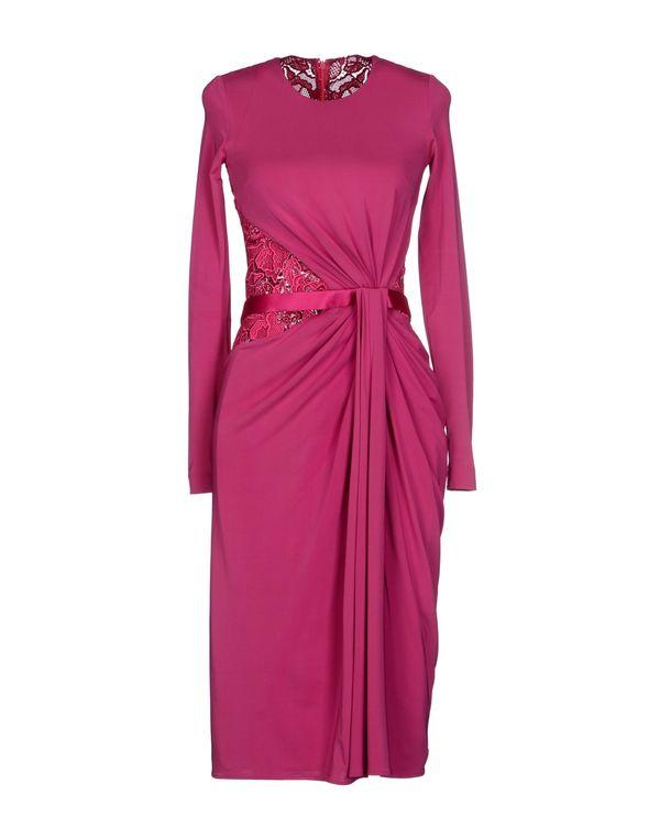玫红色 ZUHAIR MURAD 及膝连衣裙