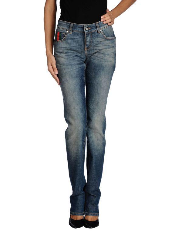 蓝色 GUCCI 牛仔裤