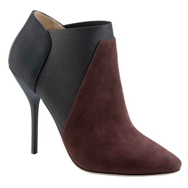 Jimmy Choo2014秋冬系列棕黑色短靴