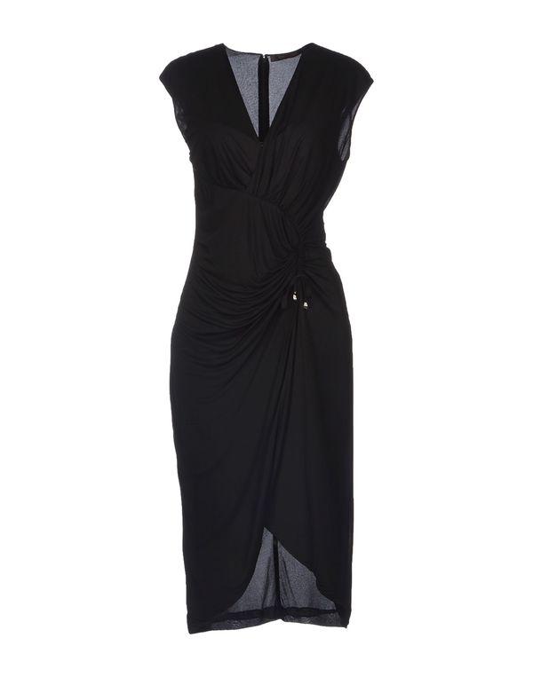 黑色 ROBERTO CAVALLI 及膝连衣裙