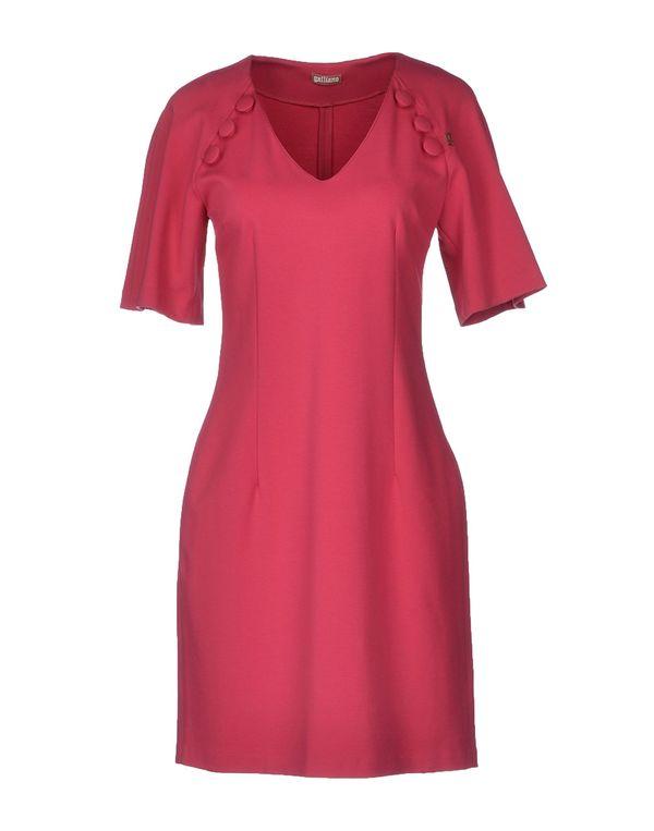 玫红色 GALLIANO 短款连衣裙