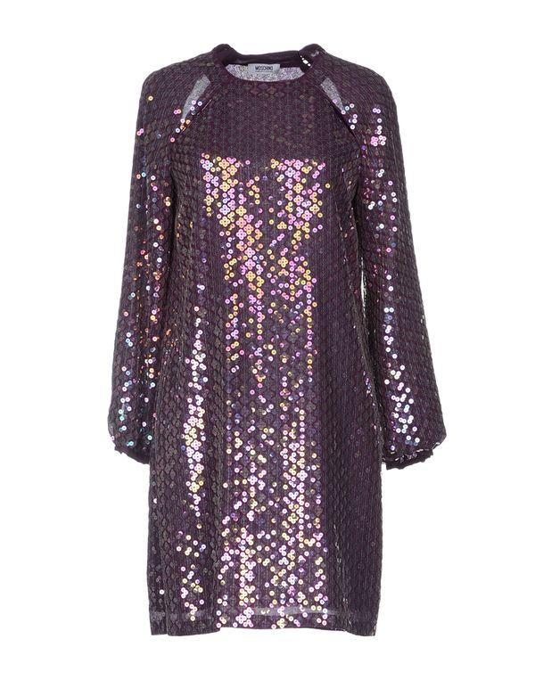 紫色 MOSCHINO CHEAPANDCHIC 短款连衣裙