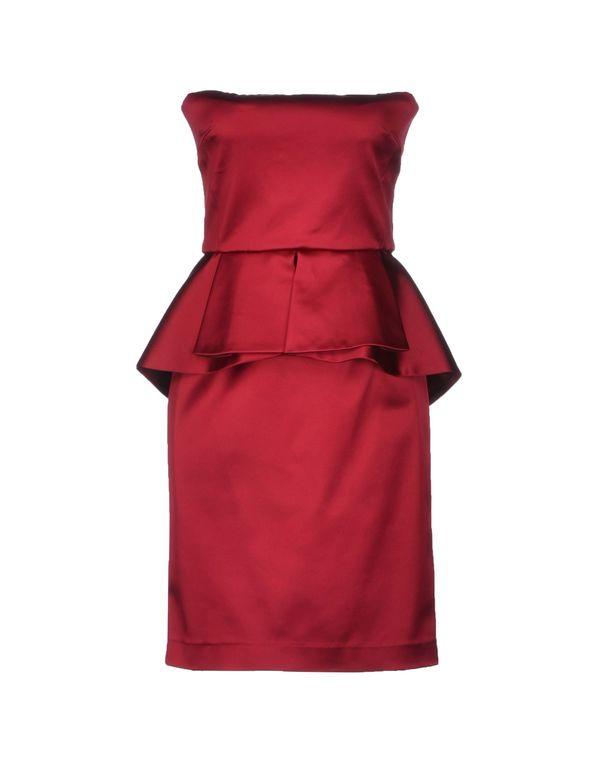 波尔多红 SPACE STYLE CONCEPT 短款连衣裙