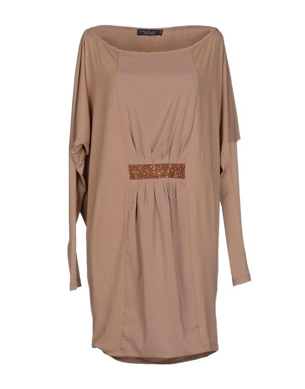 驼色 TWIN-SET SIMONA BARBIERI 短款连衣裙