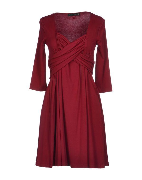 波尔多红 TWIN-SET SIMONA BARBIERI 短款连衣裙