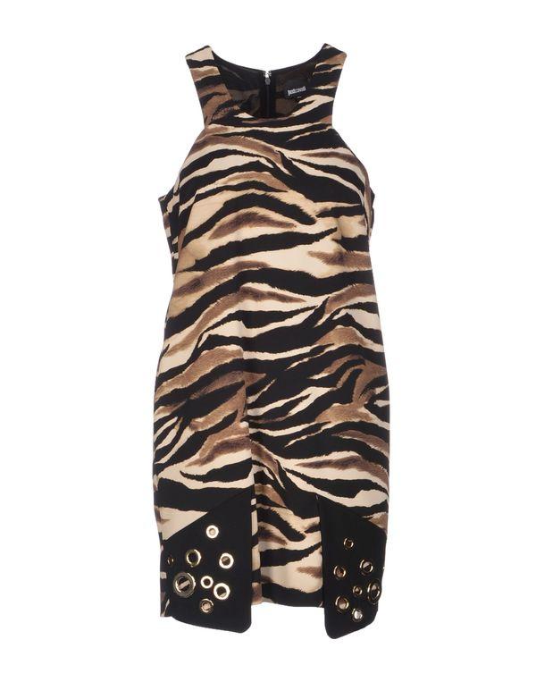 浅棕色 JUST CAVALLI 短款连衣裙