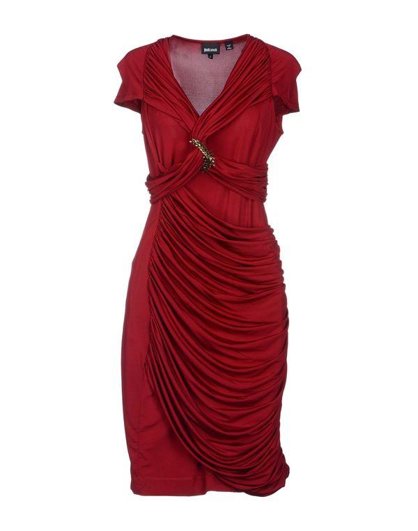 石榴红 JUST CAVALLI 短款连衣裙