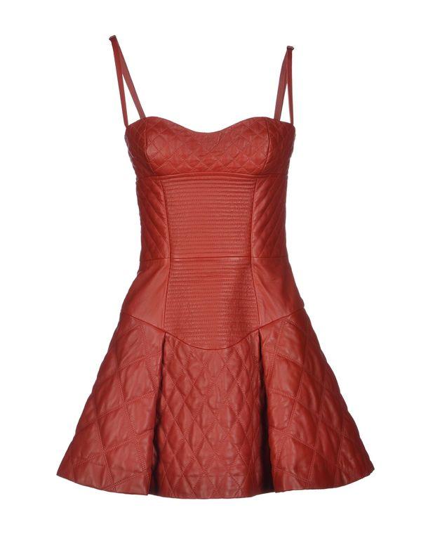 砖红 JUST CAVALLI 短款连衣裙