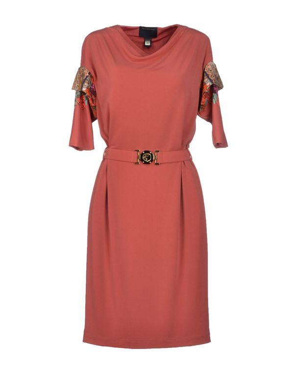 水粉红 CLASS ROBERTO CAVALLI 短款连衣裙