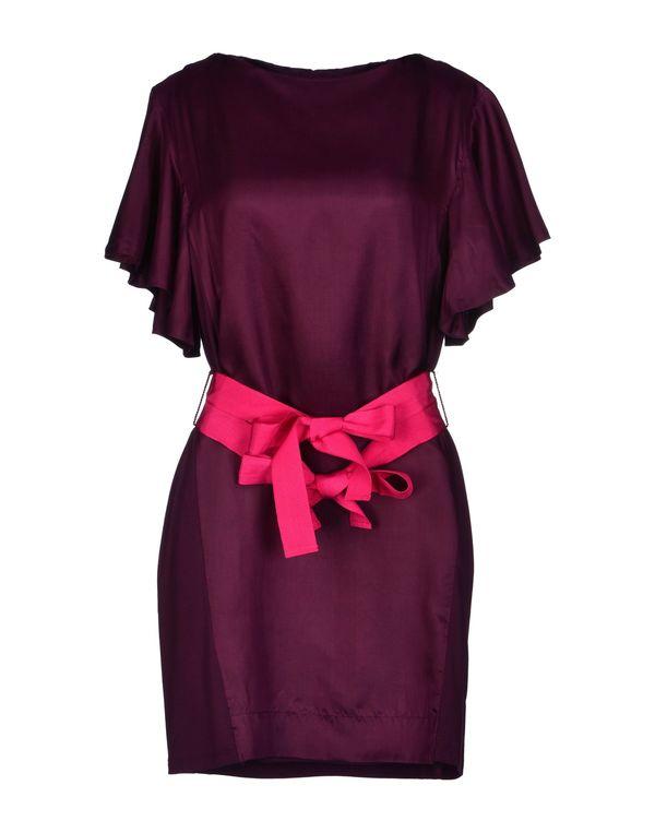 深紫 HOSS INTROPIA 短款连衣裙