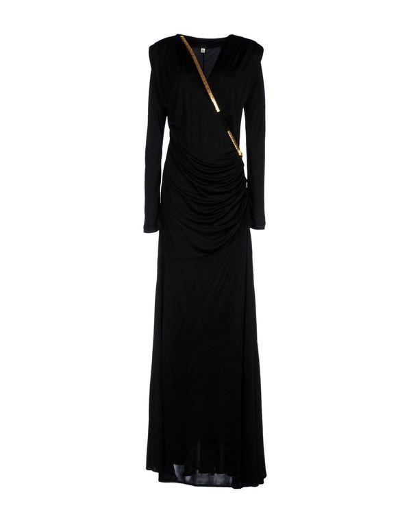 黑色 CLASS ROBERTO CAVALLI 及膝连衣裙
