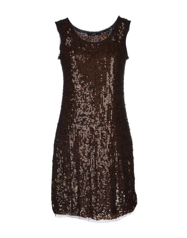 深棕色 AJAY 短款连衣裙