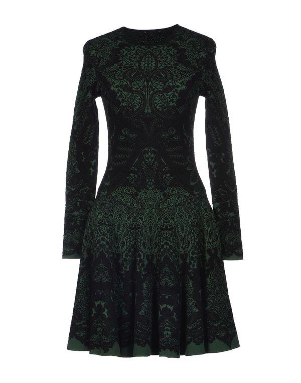 绿色 ALEXANDER MCQUEEN 及膝连衣裙