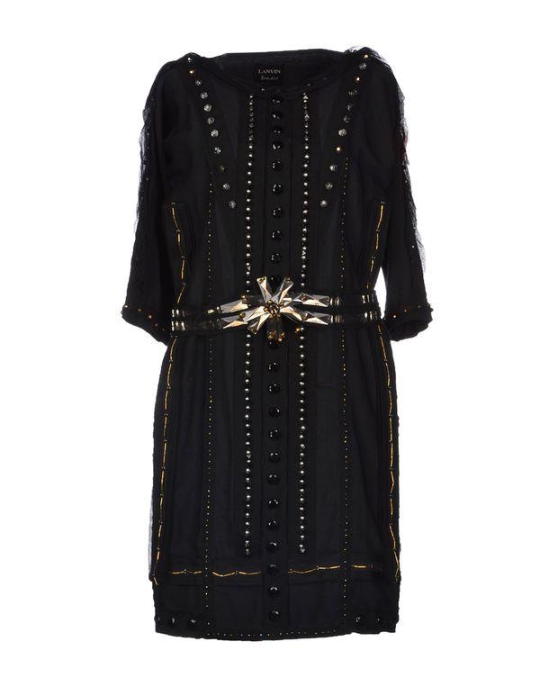 黑色 LANVIN 及膝连衣裙