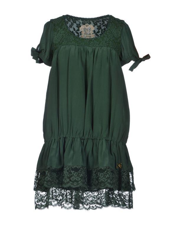 深绿色 ATELIER FIXDESIGN 短款连衣裙