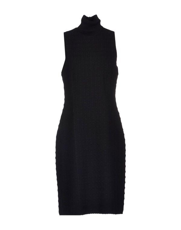 黑色 MISSONI 及膝连衣裙