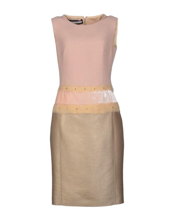 粉红色 AQUILANO-RIMONDI 及膝连衣裙
