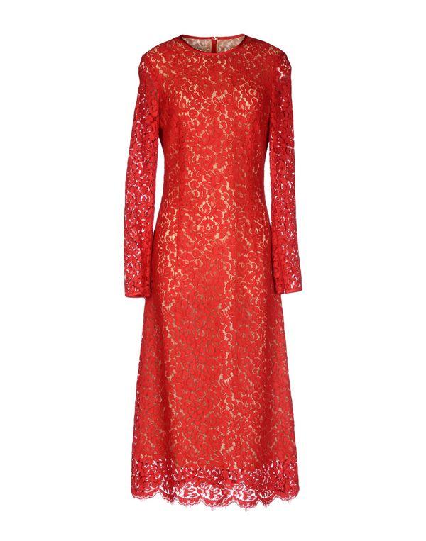 红色 MICHAEL KORS 中长款连衣裙