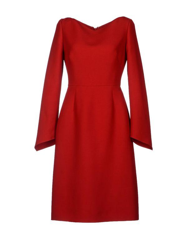 红色 VALENTINO 及膝连衣裙