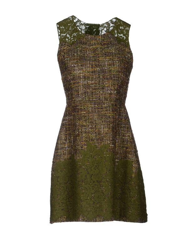 军绿色 DOLCE & GABBANA 短款连衣裙