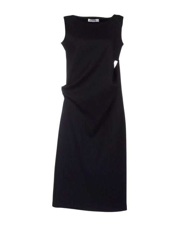 黑色 JIL SANDER 及膝连衣裙